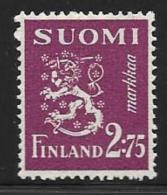 Finland, Scott # 174B MNH Lion Arms, 1940 - Finland
