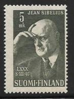 Finland, Scott # 249 MNH Sibelius, 1945 - Finland
