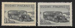 Finland, Scott # 253, 253A MNH Post Bus, 1946-7 - Finland