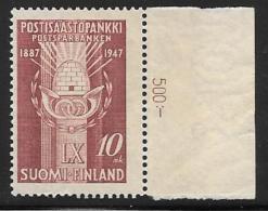 Finland, Scott # 264 MNH Postal Savings Enblem, 1947 - Finland