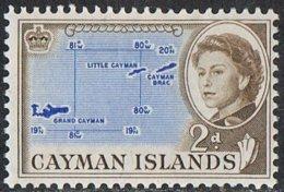 Cayman Islands SG168 1962 Definitive 2d Mounted Mint - Caimán (Islas)