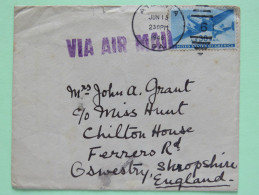 USA 1948 Cover Atlanta To England - Plane - Brieven En Documenten