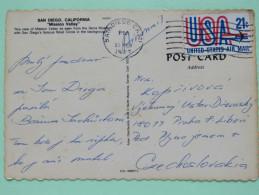 """USA 1977 Postcard """"San Diego"""" To Czechoslovakia - Plane - United States"""