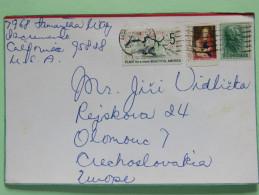 USA 1982 Card To Czechoslovakia - Flower Tree - Christmas - Jackson - Etats-Unis