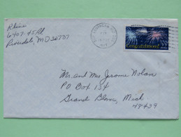 USA 1987 Cover To Grand Blanc - Fireworks - United States