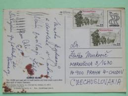 "USA 1987 Postcard ""Kiawah Island"" To Czechoslovakia - Vietnam War Veterans - Lettres & Documents"