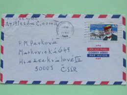 USA 1989 Cover To Czechoslovakia - Plane - Samuel Langley - Lettres & Documents