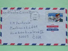 USA 1989 Cover To Czechoslovakia - Plane - Samuel Langley - Etats-Unis