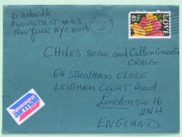 USA 1989 Cover To England - LOVE - Flowers Roses - Stati Uniti