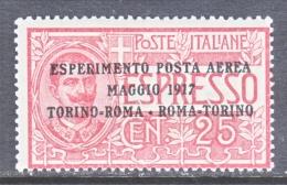 ITALY  C 1  *  ESPERIMENTO  POSTA  AEREA - 1900-44 Vittorio Emanuele III