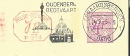 Publibel Obl. N° 2605 + P. 014 ( Nationale Loterij) Obl:  Geraardsbergen 24/09/1975 + Belle Flamme: église-monument - Stamped Stationery