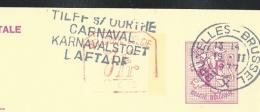 Publibel Obl. N° 2606 + P. 010 ( Nationale Loterij) Obl:  Bxl: 19/02/1977 + Flamme: Tilff/Ourthe: Carnaval - Entiers Postaux
