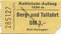 Kehlstein-Aufzug - Fahrkarte Berg- Und Talfahrt DM 3,- - Transporttickets