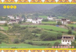 China - Tibetan Houses, Zogang County Of Tibet, Prepaid Card - Tibet