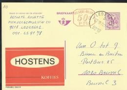 Publibel Obl. N° 2583 + P.010  (HOSTENS; Koffies) Obl: Ledeberg 22/10/1974 - Stamped Stationery