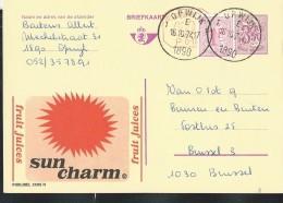 Publibel Obl. N° 2585 + P 010 ( SUN CHARM  Fruit Juices-soleil) Obl: Opwijk 16/10/1974 - Publibels