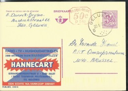 Publibel Obl. N° 2591 + P 010 (Radio-TV- HANNECART  - Aalst) Obl:  Geluwe 20/06/1977 - Publibels