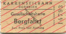 Dornbirn - Karrenseilbahn - Gesellschaftskarte - Fahrkarte Bergfahrt - Treni