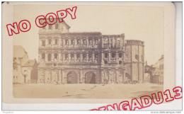 Au Plus Rapide Rare CDV XIX ème Siècle Trèves Trier Rhénanie Palatinat La Porte Noire Côté Ville 17 Mai 1868 - Photographs