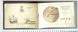 M#0S55 LIBRETTO-CALENDARIO ANNO 1932 LEGA NAVALE ITALIANA Sez. ROMA/NAVI/VELIERI - Formato Piccolo : 1921-40
