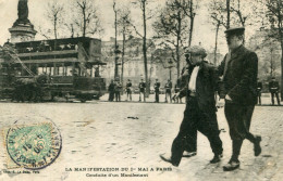 PARIS(MANIFESTATION DU 1er MAI) TRAMWAY - Manifestations
