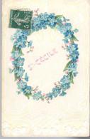 - FRANCE (fleurs) - CPA RELIEF Ayant Voyagé STE-CECILE 1911 - - Fleurs, Plantes & Arbres