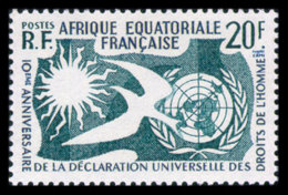 French Equatorial Africa, 1958, Human Rights Declaration, 10th Anniversary, MNH, Michel 312