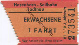 Hasenhorn Seilbahn - Todtnau - Fahrschein - Carte D'imbarco Di Navi