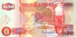 Zambia P.37a  50 Kwacha 1992  Unc - Zambia