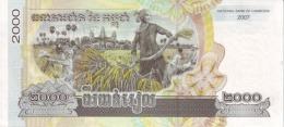 Cambodia P.59 2000 Riels 2007  Unc - Cambodia