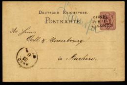 A4123) DR Karte Mit Bahnpost-Stempel CASSEL-HANNOVER Nach Aachen - Deutschland