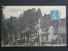 Ref5432 AB CPA Animée Saint Denis (Ile De France) - Cours Ragot N°103 - Grand Hotel Du Square - 1921 - Saint Denis