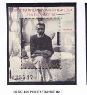 ROUMANIE 1982 PHILEXFRANCE 82 BLOC 155  MNH - Neufs