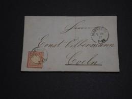 ALLEMAGNE - Lettre De Mannheim En 1872 - A Voir - L 1244