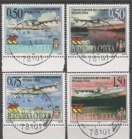BHRS 1999-119-22 AIRPLANE, BOSNA AND HERZEGOVINA REPUBLICA SRBSKA, 1 X 4v, Used - Flugzeuge