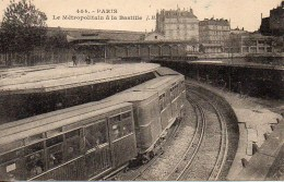 75 PARIS  Station Du Métropolitain à La Bastille (2) - Métro Parisien, Gares