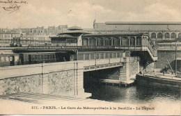 75 PARIS  La Gare Du Métropolitain à La Bastille - Le Départ - Métro Parisien, Gares