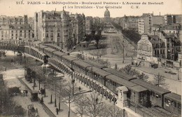 75 PARIS Le Metropolitain Boulevard Pasteur -L'Avenue De Breteuil Vue Générale - Métro Parisien, Gares