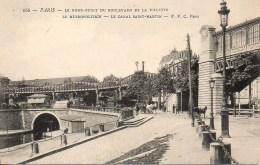 75 PARIS Le Rond-Point Du Bd Dela Villette Le Métropolitain Le Canal St-Martin - Métro Parisien, Gares