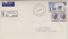 AAT 1959 Davis Antarctic Map 1v On Registred FDC  To The USA Ca 20 Ja 59 (31773) - FDC