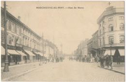Marchienne-au-Pont. Rue De Mons. Cachet. Publicité Aux Grandes Fabriques. - Charleroi