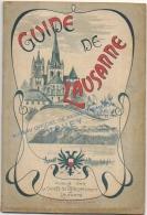 Guide Art Nouveau De Lausanne 1903. Illustré De Photos, Publicités, Gravures & Plan Des Lignes De Tramways. Rare. - Culture