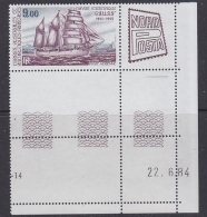 "TAAF 1984 Ship ""Gauss"" / Nordposta 1v (margin, Printing Date) ** Mnh (31775) - Luchtpost"
