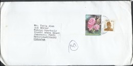 India Airmail 2007 Delhi Princess 15p Flower, 2007 Netaji Subhas Chandra Postal History Cover Sent To Pakistan