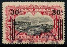 """N° 89-cu, 30c/10c Carmin, Récupération, Surcharge Déplacée, Obl """"""""MATADI"""""""" - 1894-1923 Mols: Usati"""