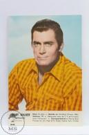 Vintage Cinema Movie Actor Postcard: Clint Walker (Cheyenne) - Acteurs