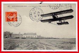 62 - BOULOGNE Sur MER -- Le Casino Et La Plage Pendant Les Fêtes D'Aviation - Boulogne Sur Mer
