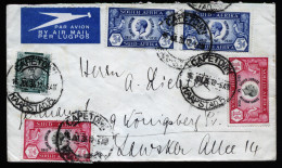 A4126) UK South Africa Cover From Capetown 07/16/35 To Königsberg / Germany - Südafrika (...-1961)
