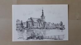 Dendermonde Baasrode Kerk Met Dorpsgezicht Door Herman Verbaere - Estampas & Grabados
