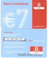 Greece-Vodafone A La Carte 7euro Prepaid Card,used - Greece